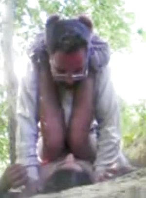 Indian damsel gets missionary screwed on the ground in the woods upskirt