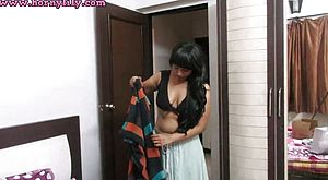 Indian Babe Lily Bhabhi Role Have fun Switching Sari