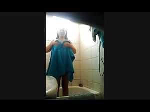 Furry Mature Indian Wife in the Shower