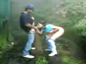 Indian dame providing head and getting pounded outdoors
