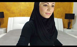 Jaw dropping Arabic Sweetheart Finishes off on Camera