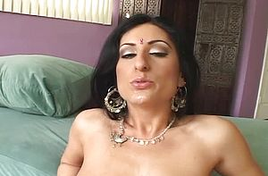 Steamy Indian cockslut inhales a penis and gets her cunt plowed