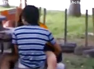 Indian duo public hookup on bench