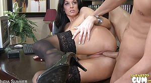 Naughty Mummy in Tights Begs For A Facial