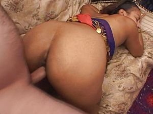 Yummy lush Indian stunner being banged on the couch